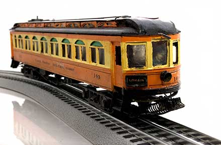Lake Shore Electric No. 143 model streetcar.
