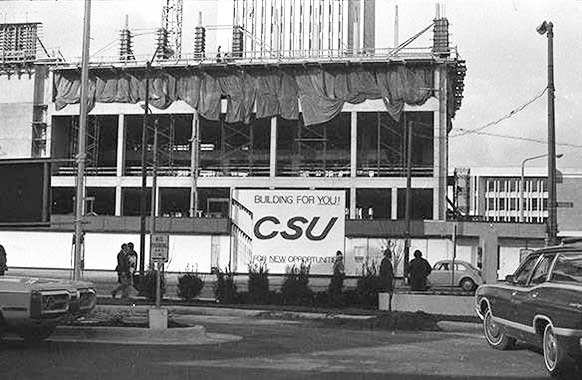 University Center construction, 1972.