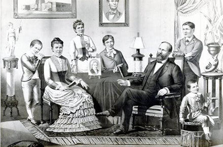 James A. Garfield and family, circa 1880