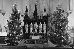 Christmas trees in the Chancel of Zion Lutheran Church