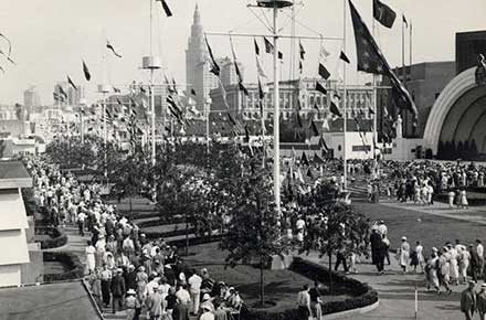 Crowds at the Great Lakes Exposition