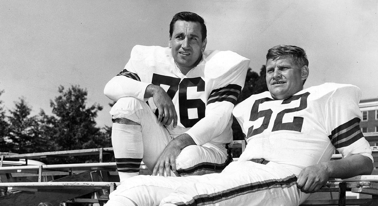 Lou Groza and Frank Gatski.