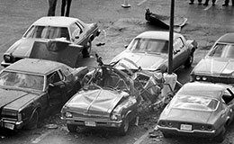Scene of Danny Greene bombing