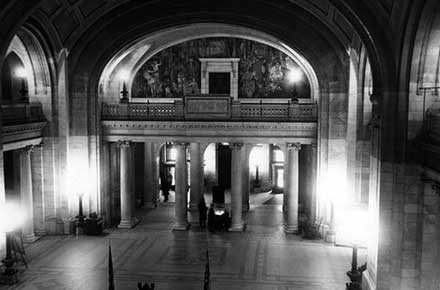 Foyer of Cuyahoga County Courthouse, 1957.