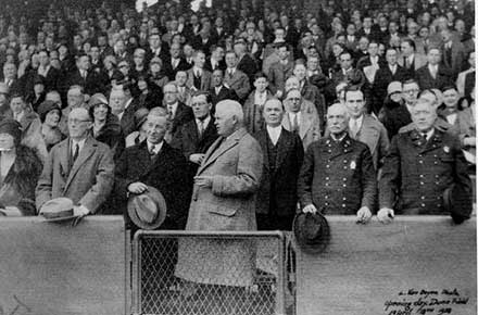 Opening Day at League Park, 1928.