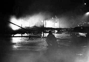 Battling fires during Glenville riots of 1968