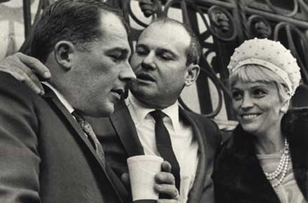 Dr. Sam Sheppard (center), F. Lee Bailey and Ariane Sheppard, 1966.