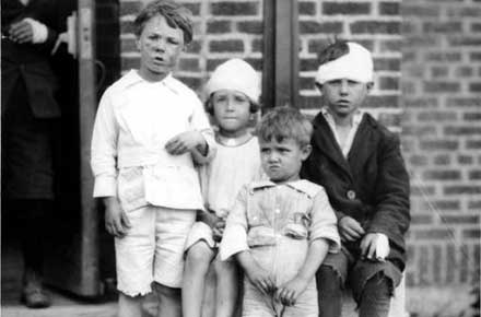 Young victims of the Lorain tornado, 1924