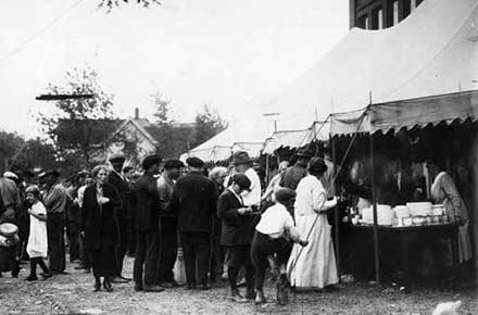 Red Cross 'soup tent,' 1924.