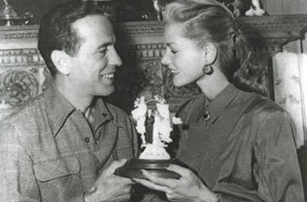 Bogart and Bacall get married at Malabar Farm, 1945