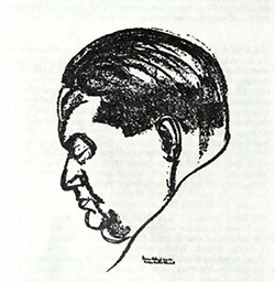 Sketch of Milhaud