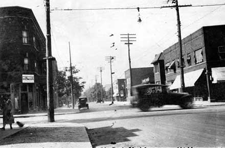 Murray Hill Avenue and Edgehill Road, 1922.