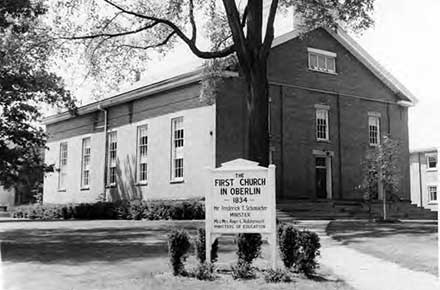 First Church in Oberlin in 1964