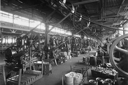 Factory floor at Parrish and Bingham Company