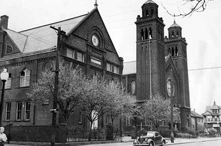 St. Casimir's School and Church, 1940