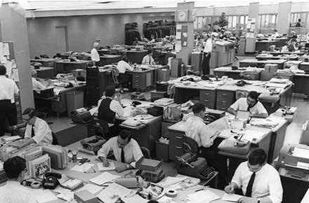 Cleveland Press City Room circa 1959