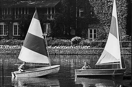 Sailing on the Shaker Lakes, 1964.